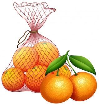 Una bolsa de mandarina