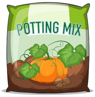 Bolsa de mezcla para macetas