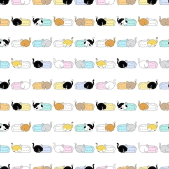 Bolsa de plástico de gato de patrones sin fisuras gatito