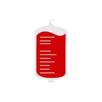 Bolsa de sangre aislada ilustración vectorial