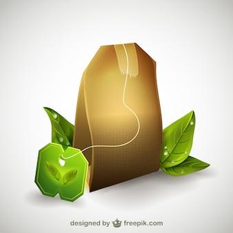 Bolsa de té vectorial