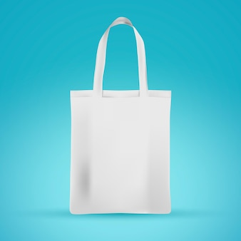 Bolsa de tela blanca realista