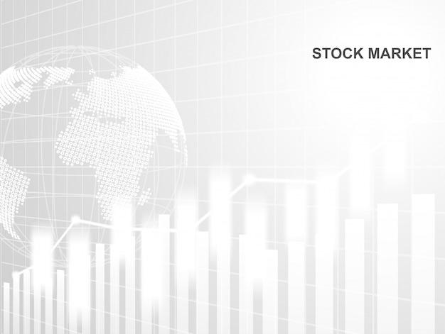 Bolsa de valores e intercambio de mundo.
