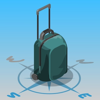 Bolsa de viaje isométrica