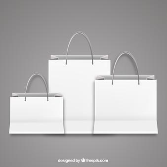 Bolsas de compra en blanco