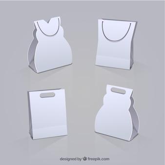 Bolsas de la compra blanco