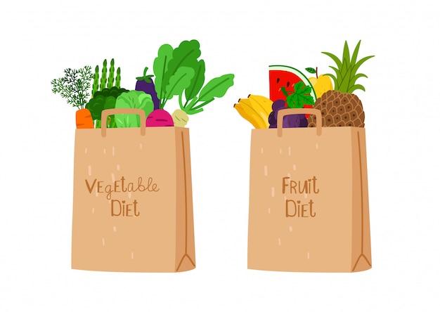 Bolsas de compras ecológicas veganas