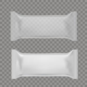 Bolsas de almohada de snack de comida realista