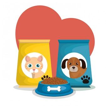 Bolsas de mascotas set de comida