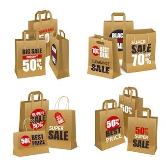 Bolsas de papel de venta de compras