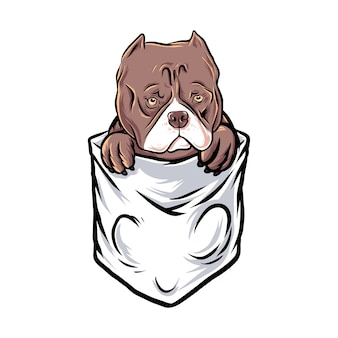 Bolsillo de bulldog gracioso
