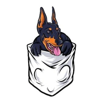 Bolsillo de perro gracioso