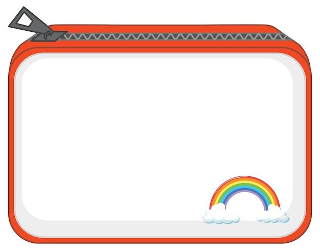 Un bolso con cremallera y estampado de arcoíris.