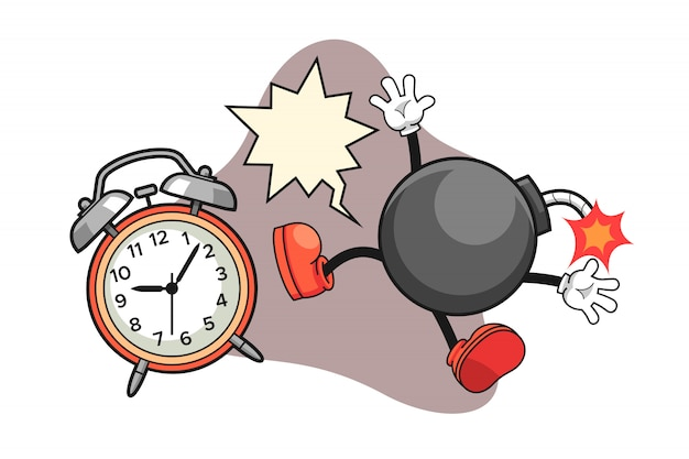 Una bomba es impactada por el despertador