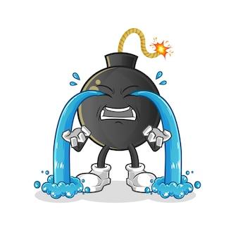 Bomba llorando ilustración