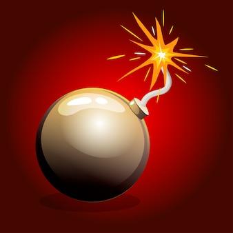 Bomba negra peligrosa