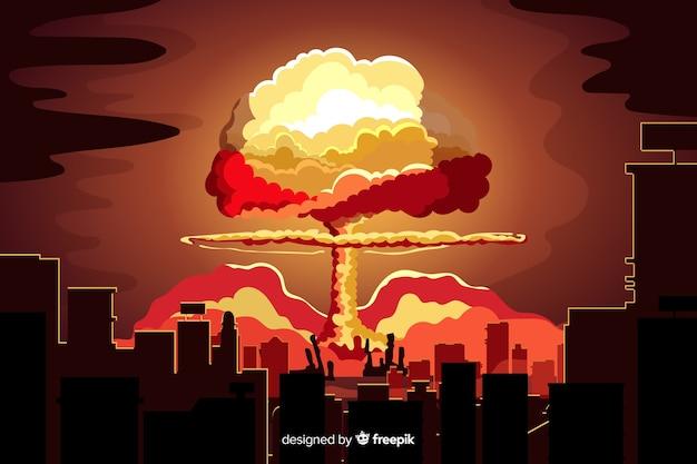 Bomba nuclear en una ciudad