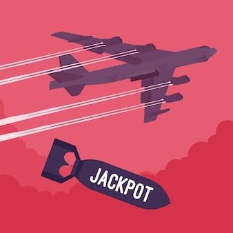 Bombardeo de bombarderos y jackpot