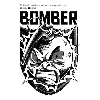 El bombardero blanco y negro
