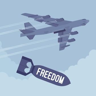 Bombardero y bombardeo de libertad