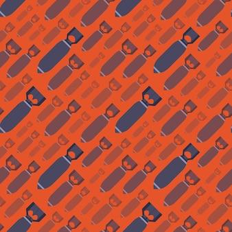 Bombas de patrones sin fisuras rojo