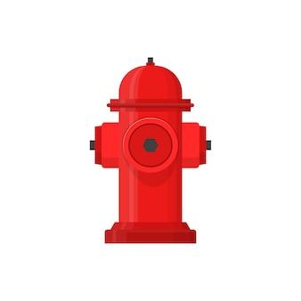El bombero de hidrante rojo apaga el icono de fuego en estilo plano aislado sobre fondo blanco.