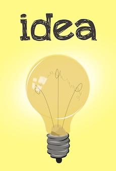 Bombilla con concepto de cartel idea
