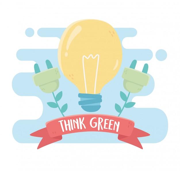 Bombilla enchufe energía medio ambiente ecología