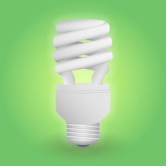 Bombilla fluorescente económica. ahorro de energía de la lámpara.