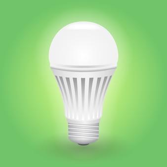 Bombilla led económica. ahorro de energía de la lámpara.