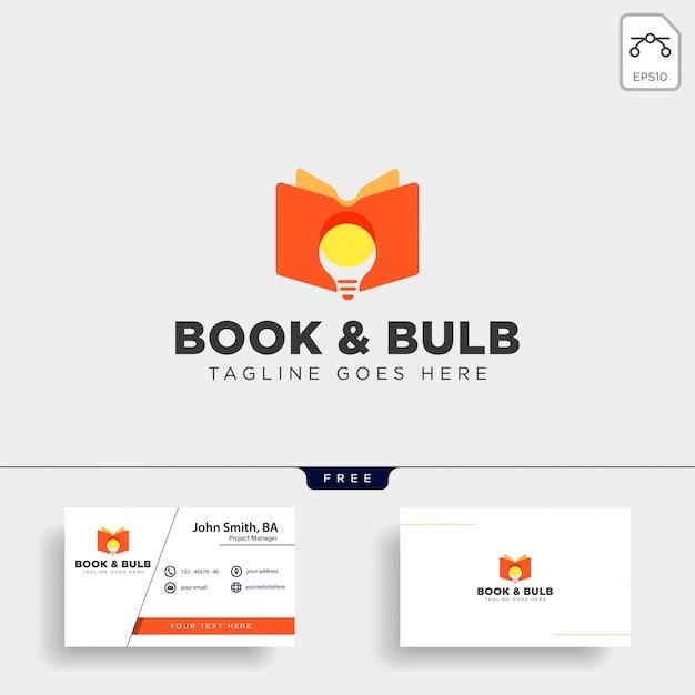 Bombilla de luz aprendiendo línea logotipo plantilla ilustración icono elemento aislado