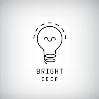 Bombilla de luz ilustración logo abstracto
