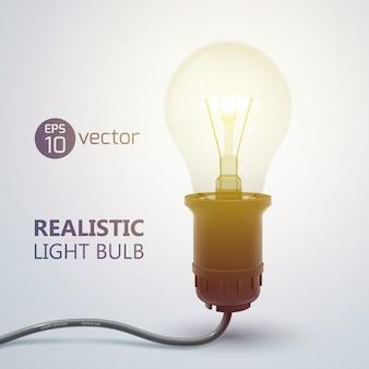 Bombilla de luz realista