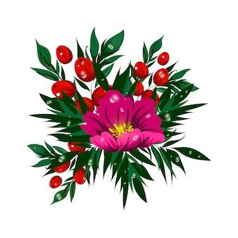 Bonita flor tropical