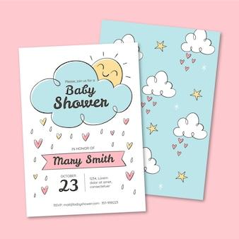 Bonita invitación para baby shower de chuva de amor