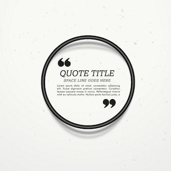 Bonita plantilla de texto con un sencillo marco