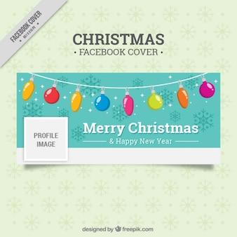 Bonita portada de facebook con luces navideñas