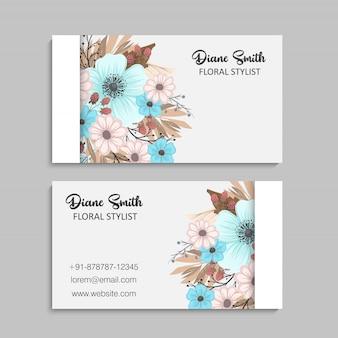 Bonita tarjeta de diseño floral. ilustración vectorial