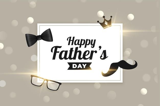 Bonita tarjeta de felicitación del día del padre feliz
