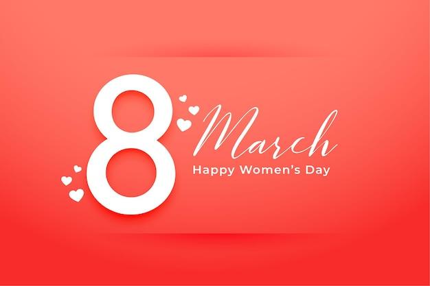 Bonita tarjeta de felicitación feliz del día de la mujer naranja
