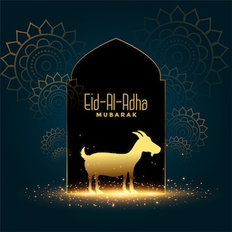 Bonita tarjeta del festival eid al adha mubarak bakrid