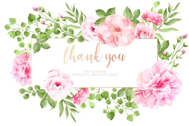 Bonita tarjeta floral con mensaje