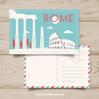 Bonita tarjeta postal de un viaje