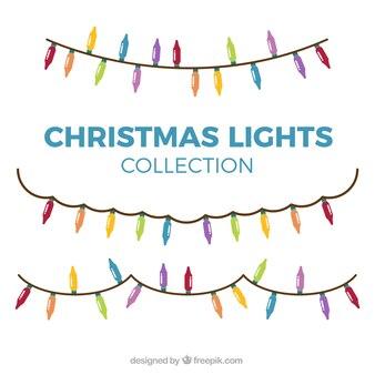 Bonitas bombillas de colores para decoración navideña