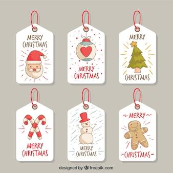 Bonitas etiquetas de navidad con dibujos