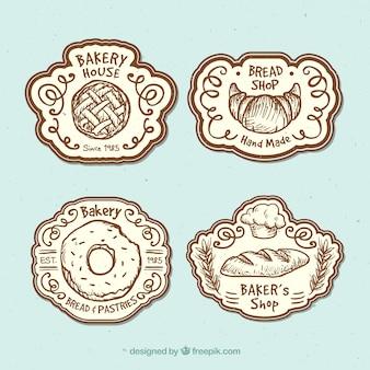 Bonitas insignias para una panadería