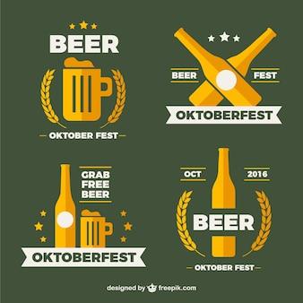 Bonitas insignias planas para oktoberfest