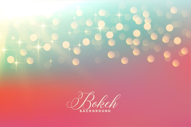 Bonitas luces bokeh con destellos