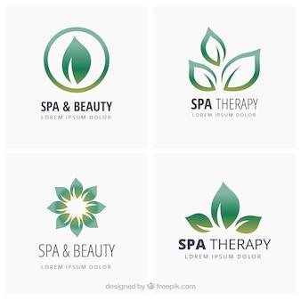 Bonitas plantillas de logotipos de spa