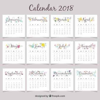 Bonito calendario 2018